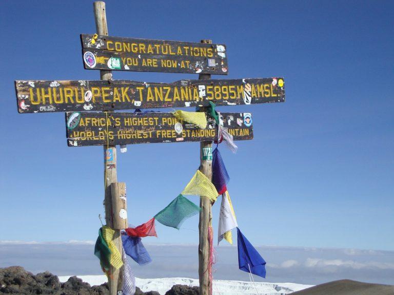 uhuru peak, Africa's highest