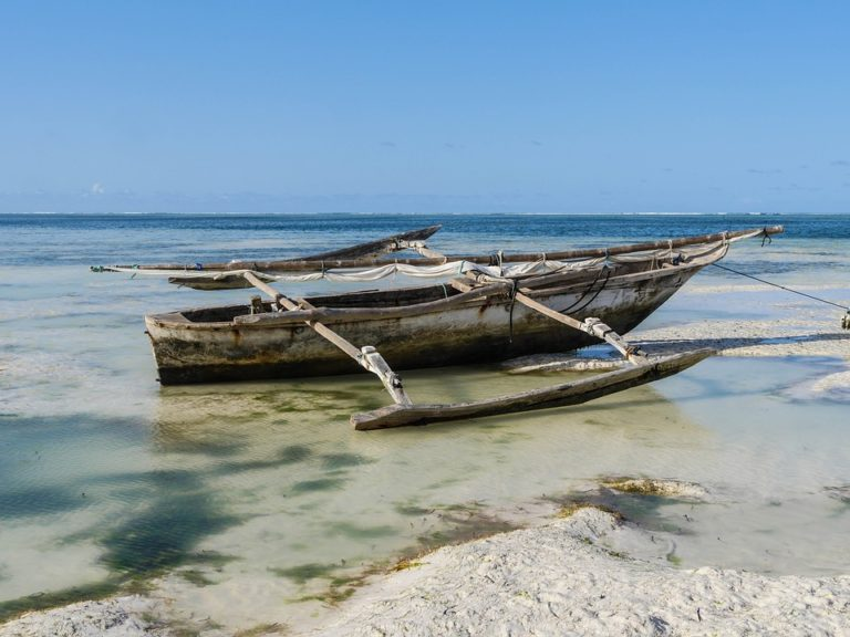 traditional boat in Zanzibar