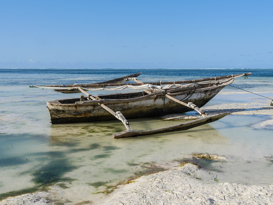 traditional boat in Zanzibar