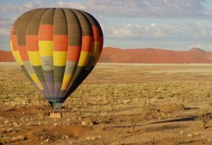 Safari Vacation Package: hot air balloon in Namibia
